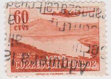 (EC100) 1954 Ecuador 60c orange Douglas Dc4 ow1015