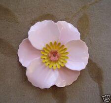 4 sets metal,enamel flower bead/cabochon,pink poppy,58m