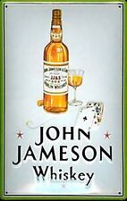 John Jameson Whiskey (cards) embossed steel sign 300mm x 200mm (hi) REDUCED