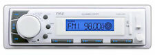 NEW Pyle PLMR20W Marine In-Dash Receiver with AM/FM/AUX SD/USB Memory Readers