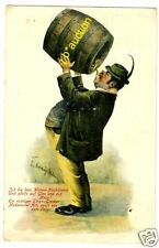 BIER FASS BEER BARREL * AK um 1910 PC Artist Signed