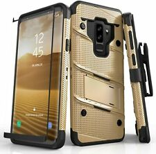 Samsung Galaxy S9 Plus Case with Glass Screen Protector & Belt Clip