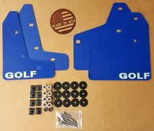 [SR] Mud Flaps Set BLUE w/ Hardware Kit & Logo for 10-14 VW MKVI MK6 Golf GTI
