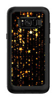 Skin Decal Wrap for Samsung Galaxy S8 Plus Otterbox Defender Golden Stars Gold