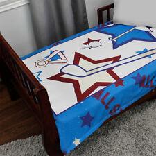 ALL STAR GOLF TODDLER BLANKET - Sports Ball Kids Blue Minky Comforter Bedding
