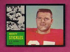 1962 TOPPS # 155 49ERS MONTY STICKLES NRMT-MT CARD (INV# A5112)