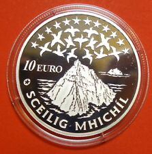 IRELAND:TEN  EURO SILVER  PROOF. SKELLIG MICHAEL 2008. STAR WARS.  FREE SHIPPING