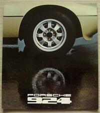PORSCHE 924 Car LF Sales Brochure 1978