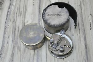Antique Nautical Maritime Brass Pocket Military Sextant Drum Working Sextant