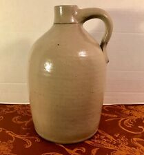 Antique Hand Thrown One Gallon Salt-glaze Stoneware Beehive Jug
