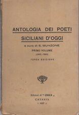 Antologia dei poeti siciliani d'oggi: primo volume: 1860-1890. 3. ed.