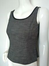 TAHARI by Arthur S Levine fitted top size 2 UK6 --BRAND NEW-- grey embellished
