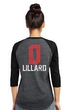 NBA Portland Trail Blazers Women's Premium Triblend Raglan Lillard XXL *NWT