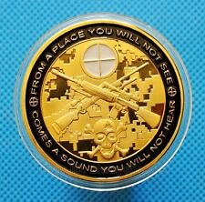 US Army Sniper Barrett M82A1 Sniper Rifle Gold Plated Commemorative Coin Token