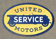 rare old porcelain sign advertising United Motors Service