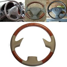 Brown Wood Tan Leather Steering Wheel Cover for 99-03 Lexus RX300 GS300 400 430