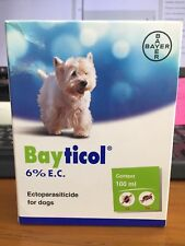 BAYTICOL 6% PREVENT REMOVE TICK FLEA LICE FOR DOGS 100 ml.