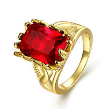 BH101a8 Birthday Gift 100% Natural Ruby 5.50ct Size US 8 14K Yellow Gold Ring