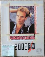 Sting - Dream Of Blue Turtles World Tour 1986 tour programme with ticket stub