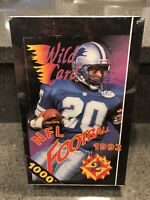 1992 Wild Card Football Series 2 Factory Sealed Box 36 Packs Possible 1000Stripe