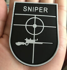 SNIPER Army weapons Tactical Morale Hook Loop PVC Patch Badge   AA 1301