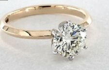 14kt Two Tone Gold and Genuine Diamond Engagement Ring