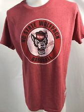The Original Retro Brand NC STATE Wolfpack Baseball SS Red T-Shirt, Adult L