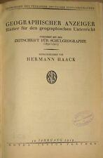 Hermann Haack  Geographischer Anzeiger Jahrgang 1929 Geographie Dalmatien u. a
