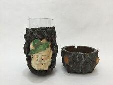 Vintage Austrian Handmade Resin Beer Mug & Ashtray Insert Glass, Made in Austria