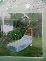 WEHNCKE Gartenmöbel Schutzhülle Rollenliege Hülle transparent