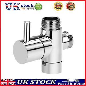 3 Way 1/2 Shower Faucet Water Splitter Shower Valve Diverter Nozzle Adapter T#K