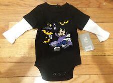 New Disney Baby Long Sleeve haloween dracula bodysuit top shirt (6-9 Months)