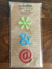NIP Embellish Your Story Text Symbols Magnets By Roeda Set of 3 * & @!!!