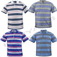 Big Sizes Men  Polo Collar  Button Stripe Pocket PK T-Shirt  SIZES-,3XL,4XL,5XL