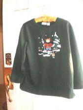 Womens/youth LS Christmas Snowman sweat shirt Fashion Bug Holiday sz 14/16W L@@K