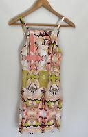 BEC & BRIDGE stunning stroppy Paisley Print Pencil Dress Size 6