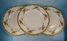 3 Lichfield Dinner Plates Johnson Brothers England Old Staffordshire Flowers (O)