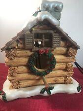 Christmas Theme Log Cabin Birdhouse New Resin Gift Innovations