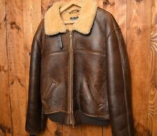 SCHOTT NYC USAAF B-6 VTG SHEARLING BOMBER PILOT WINTER LEATHER JACKET L-XL 44
