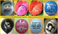"""250 Personalised Printed Latex 12"""" Balloons for New Baby, Christening, Boy Girl"""
