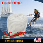 """3 Strand Twisted Boat Marine Mooring Anchor Cord Dock Line Rope 3/4""""x150ft White"""