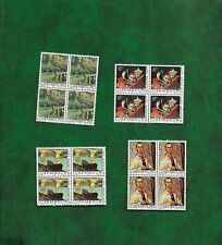 LUXEMBOURG 1975  PAINTINGS BLOCKS OF FOUR U/ MINT