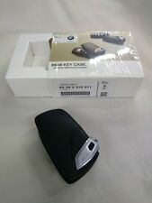 BMW Genuine Black Basic Line Key Fob Case with BMW Lettering 82292219911