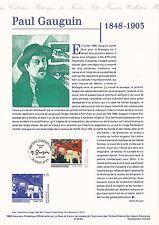 Document Philatélique Timbre 1er Jour : 05/12/ 1998 - Paul Gauguin