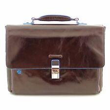 Man Woman Briefcase PIQUADRO BLUE SQUARE leather cach bag new CA3111B2 MO EURPG