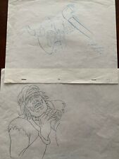 1981 Heavy Metal Movie Original Animation Film Production Drawing - 2 Drawings