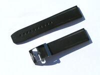 22mm Breitling 131S Caoutchouc Armband schwarz black mit Dornschliesse I009