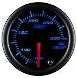 "GlowShift 2 1/16"" Tinted Electronic Oil Temp Gauge Meter w. 7 Color LED Display"