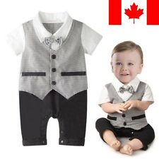 Gorgeous Gentleman Romper Suit Outfit Infant Baby Boy Toddler Cloth Quality 0-6M