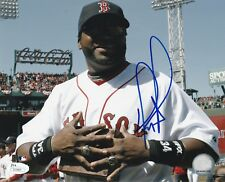 BOSTON RED SOX DAVID ORTIZ SIGNED 8X10 PHOTO W/PROOF JSA AUTHENTICATED BIG PAPI